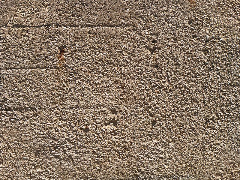 concrete with rocks