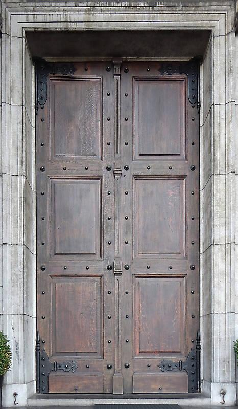 medieval door with nails