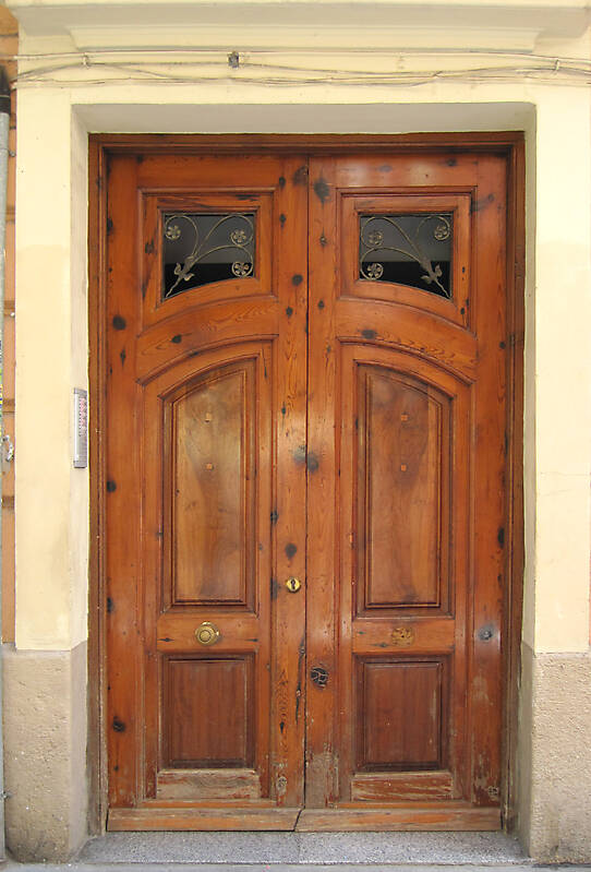 old ancient door from spain downtown 7