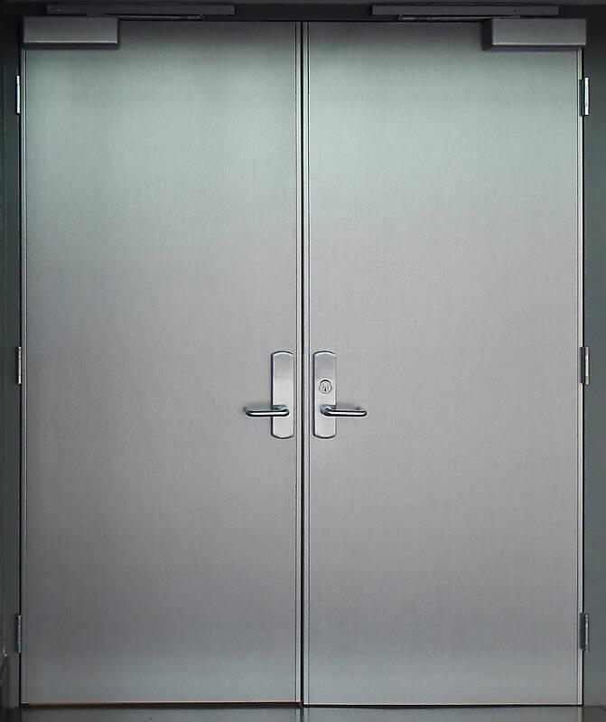 glossy aluminium door