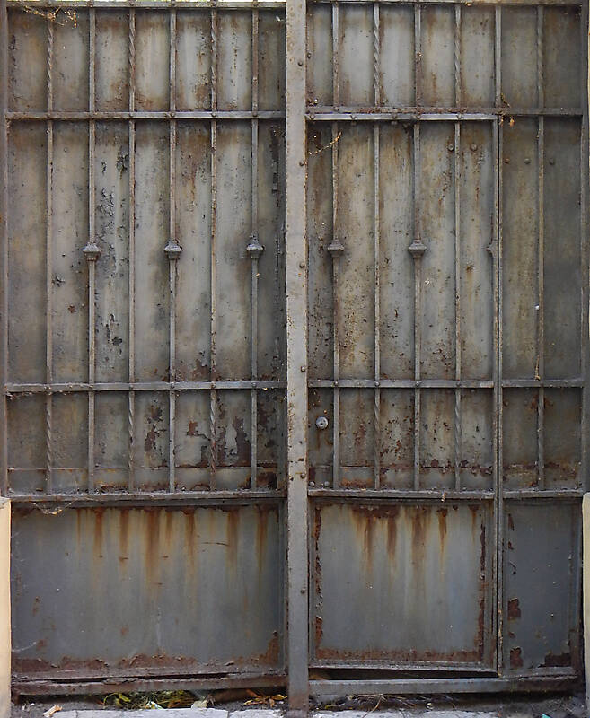 Rusty Metal Door texture - metal rusty cage grey paint 4 - metal doors - lugher