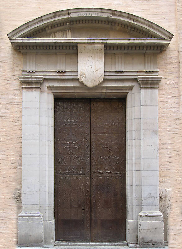 old ancient door from spain downtown 18