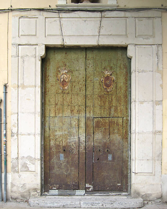 old ancient door from spain downtown 19