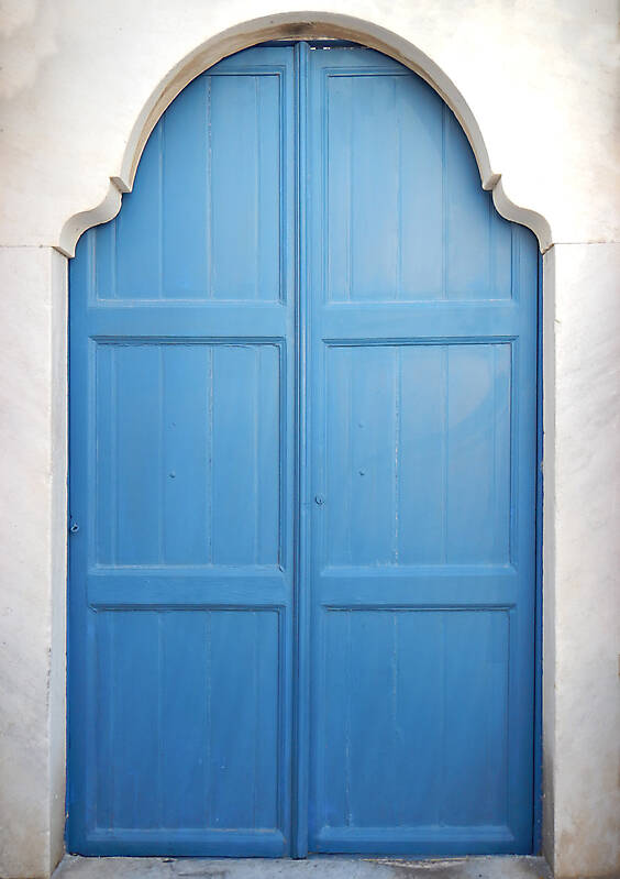 blue storic greek door 1