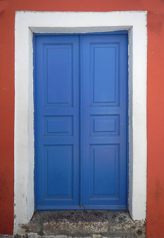 blue storic greek door 2