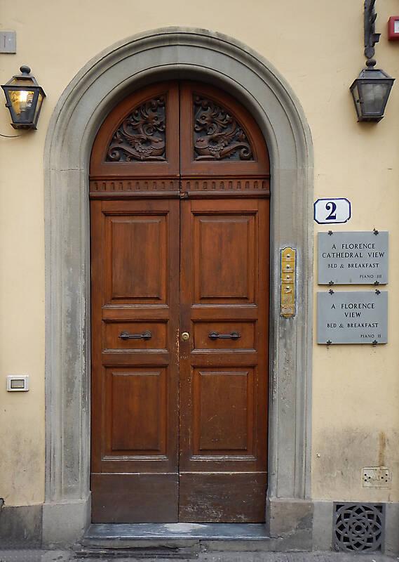 clean old style wood door 3