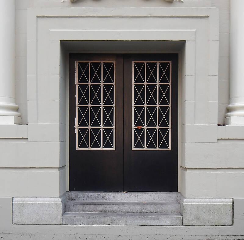 neoclassical building door
