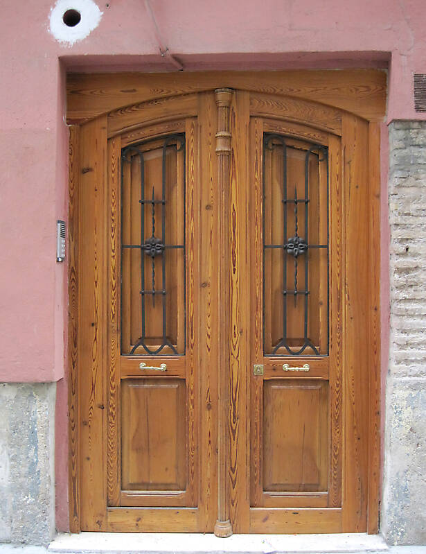 old ancient door from spain downtown 22