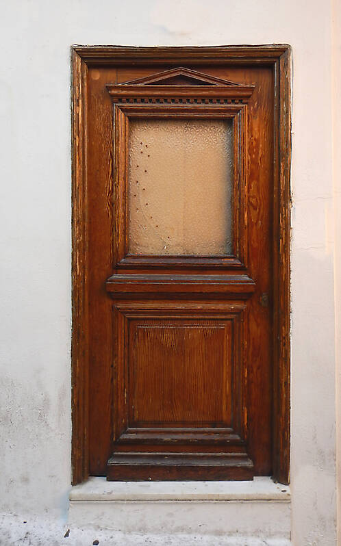 old clean decorated wood door 21