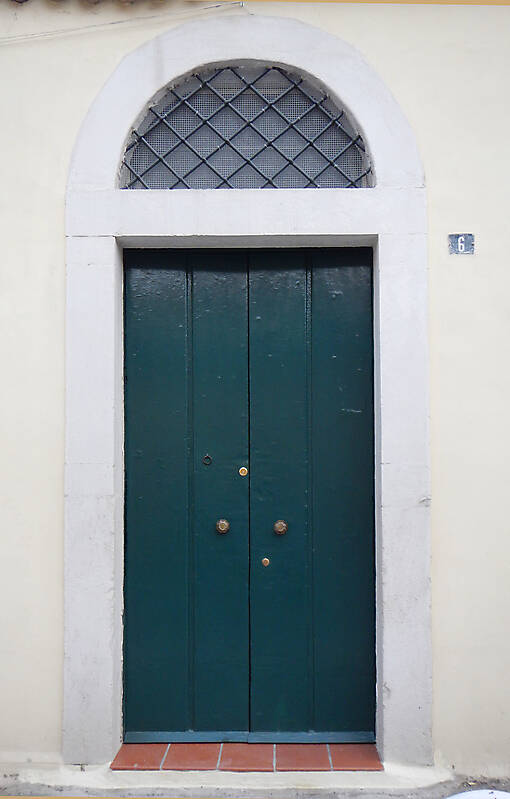 aged medieval door green 18