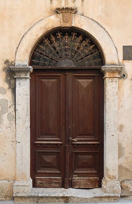 brown old stile door 7