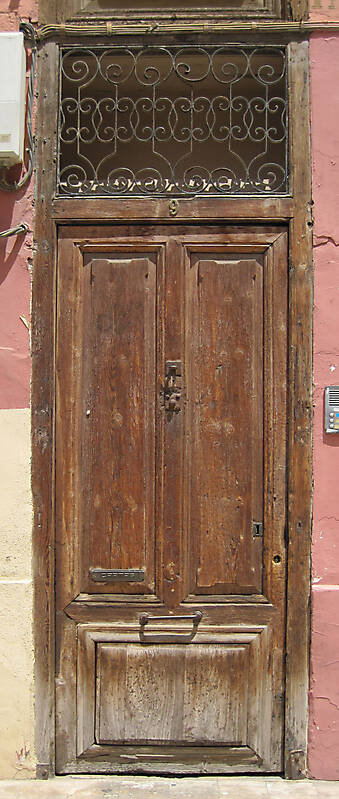 old ancient door from spain downtown 3