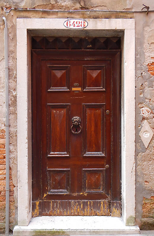 ornate wood door from venice 1