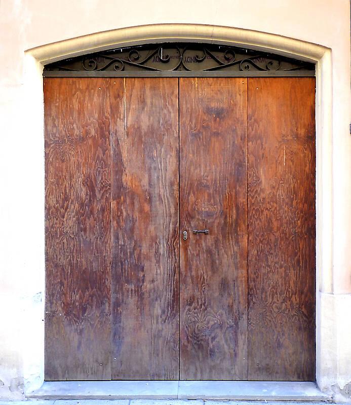 very ruined wood door 3