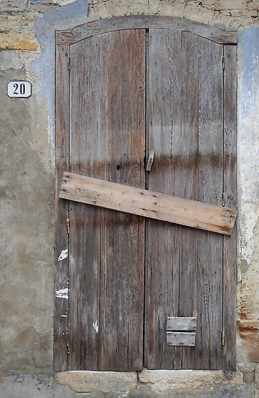 ancient very old rustic damaged door 2
