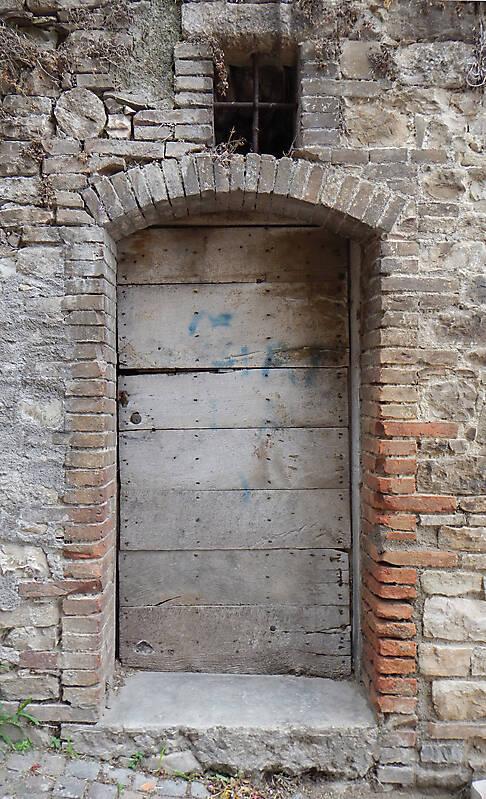 ancient very old rustic damaged door 4