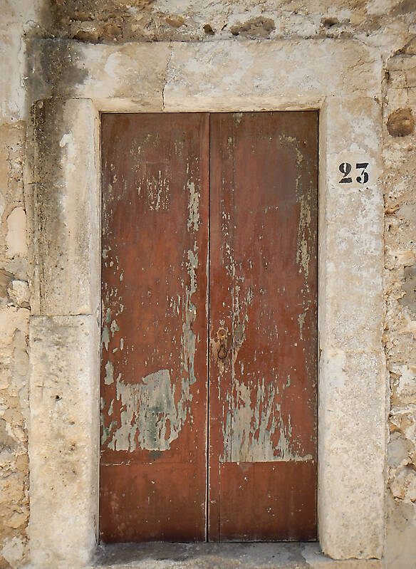 ancient very old rustic damaged door 8