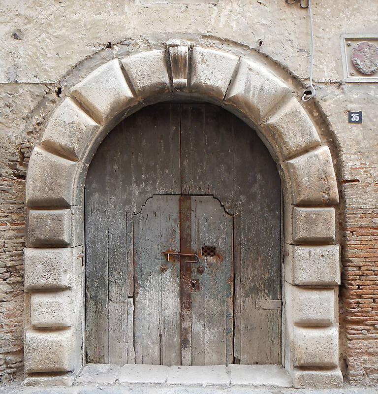 dried paint old medieval door 1