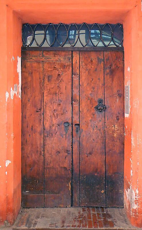 old scraped wood door 7