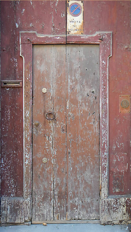 very ruined wood door 1
