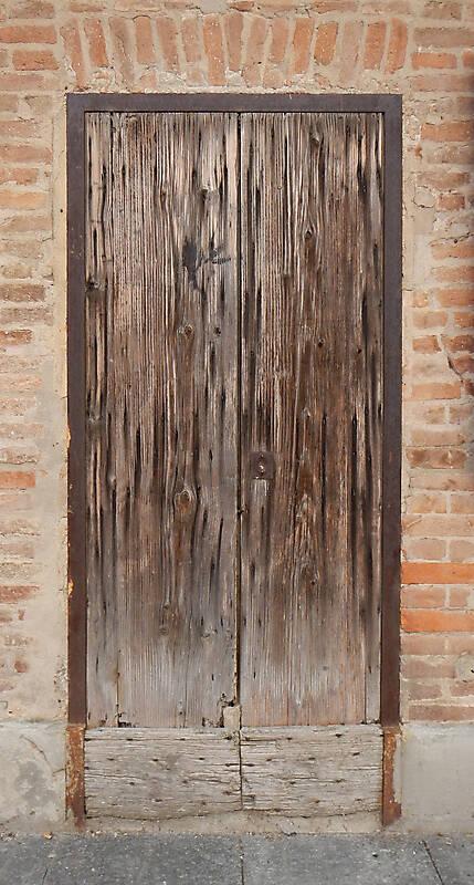 very ruined wood door 4