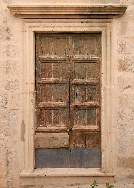 very ruined wood door 5