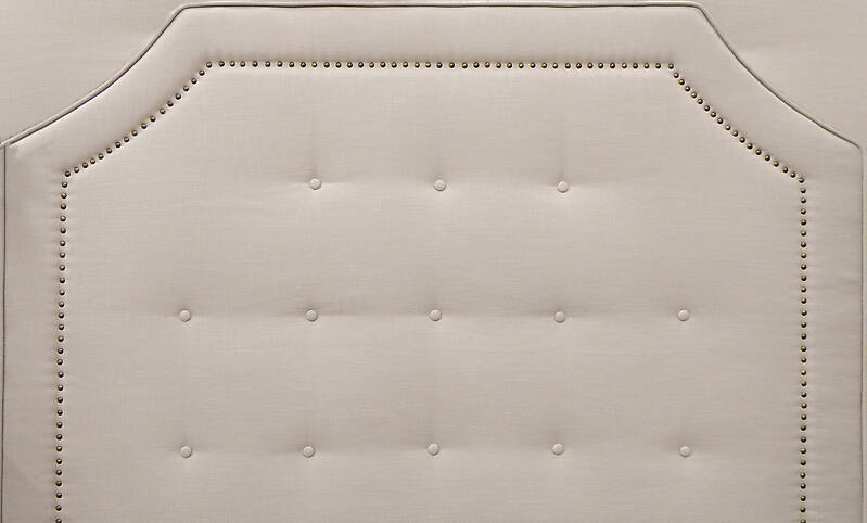 how to make a fabric headboard with buttons
