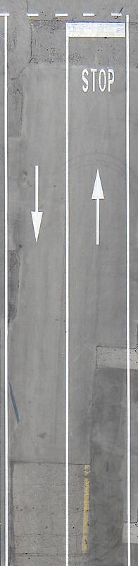 asphalt with stop and lines