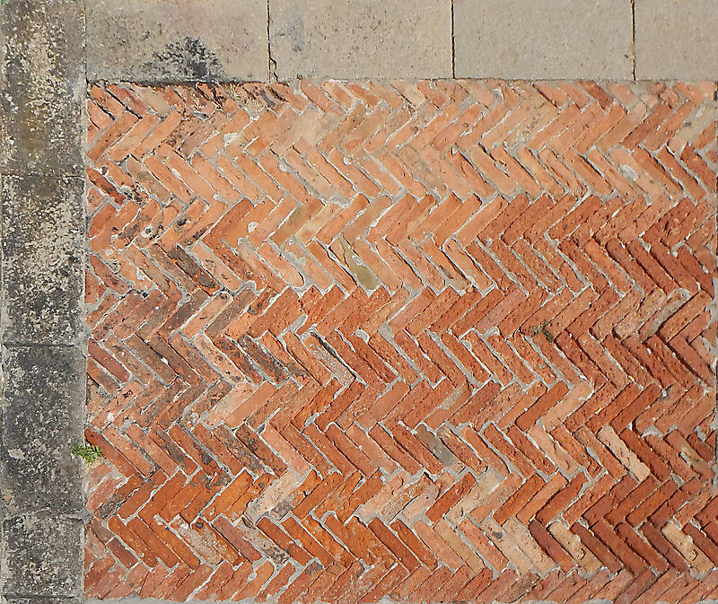 medieval bricks pavement 1