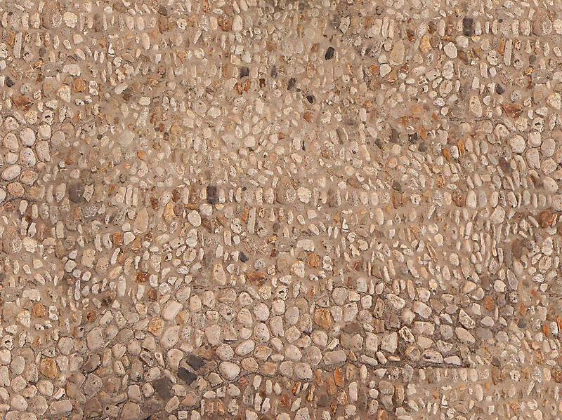 round pebbles floor