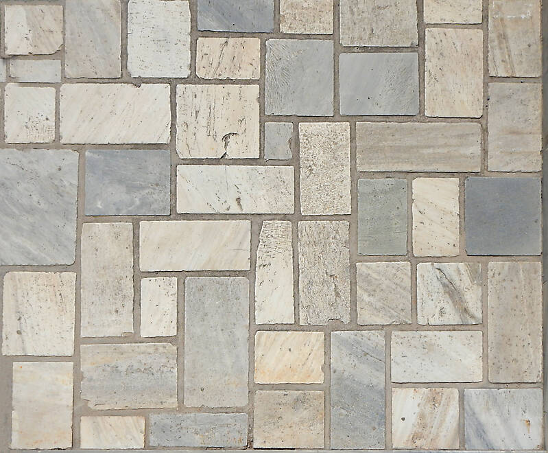 Texture irregular tiles various colors Modern Pavement