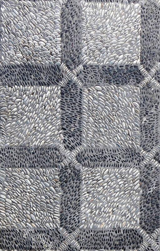 black and white pebbles greek mosaic seamless 3