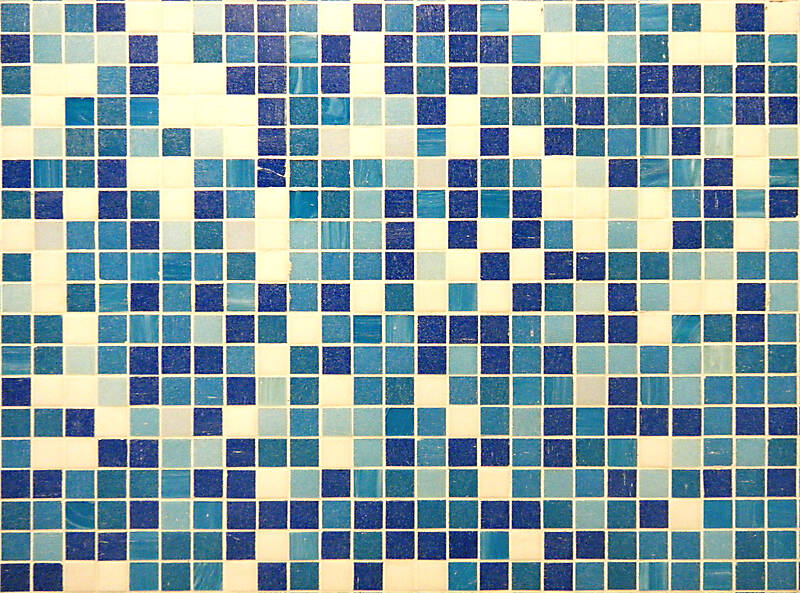 mosaic blue and white