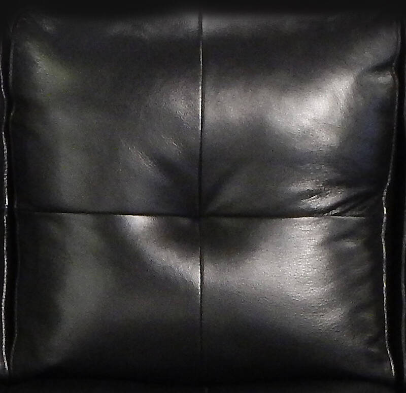 Texture Black Leather Backrest Couch Pillows 1 Leather