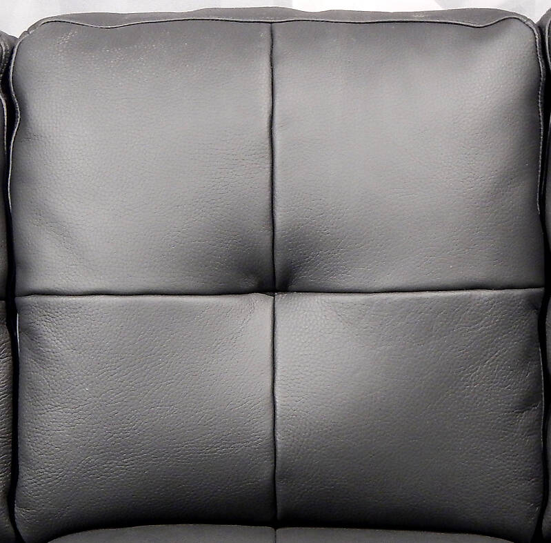 black leather backrest couch pillows matte