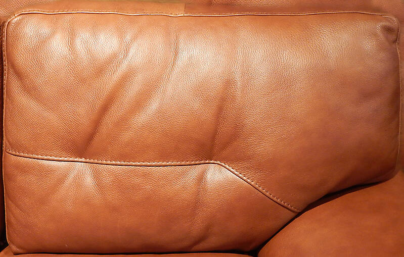 light brown leather backrest pillow 3