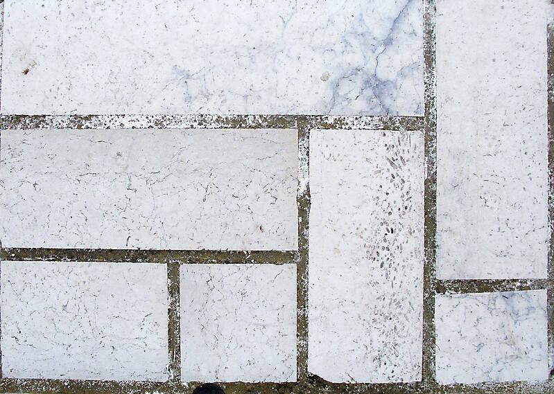 Marble white tiles