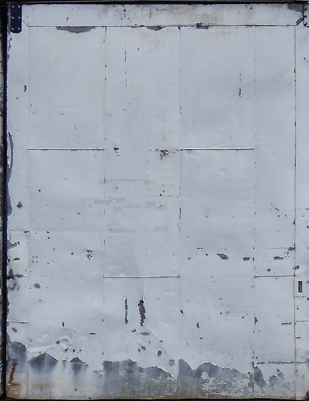 scrape paint on metal door 3
