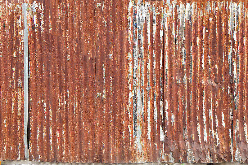 Texture Undulating Rusty Iron Panel 2 Rusted Metal