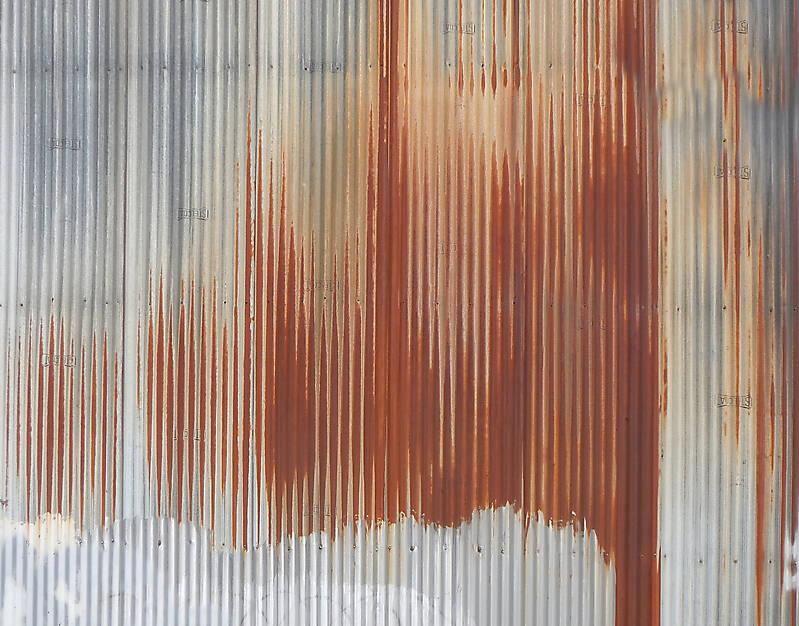undulating rusty iron panel 5