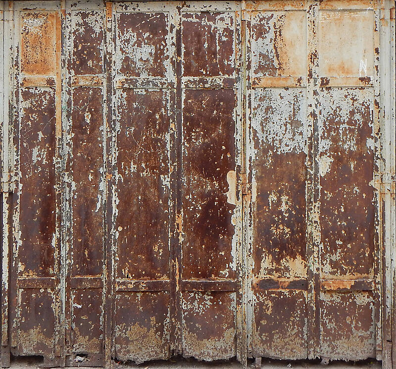 very rusty metal door from venice