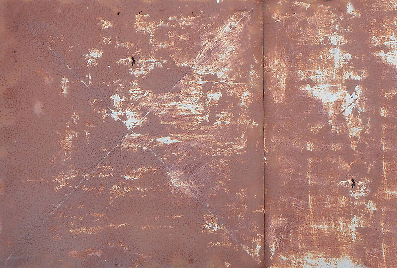 very rusty metal panel