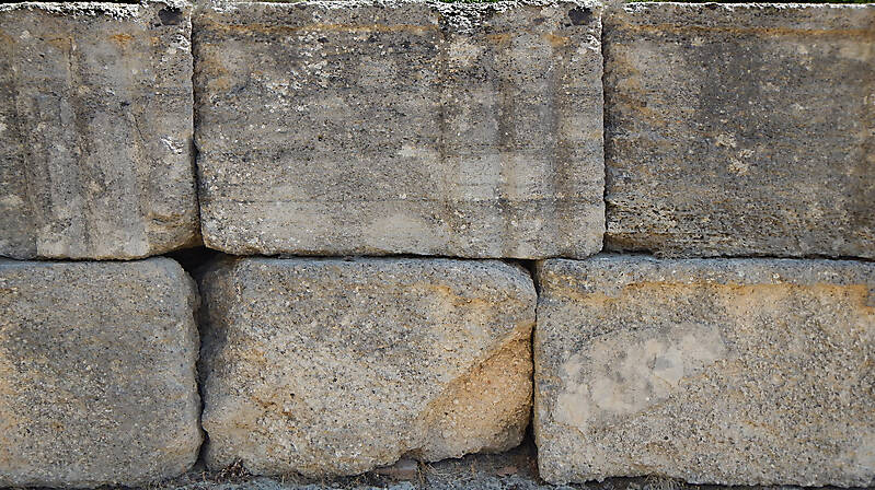 medieval crude stone blocks from athen 3