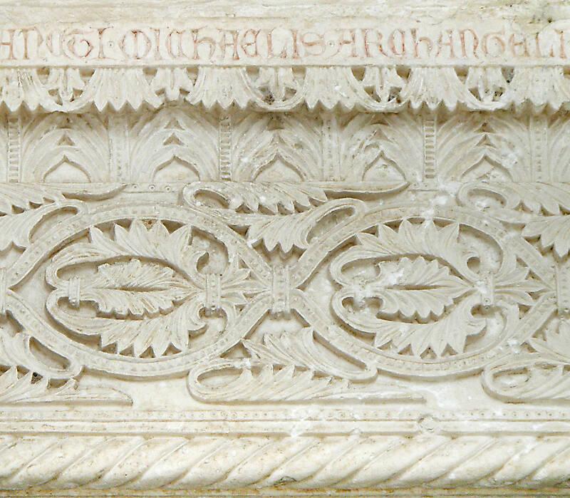 medieval church stone plate
