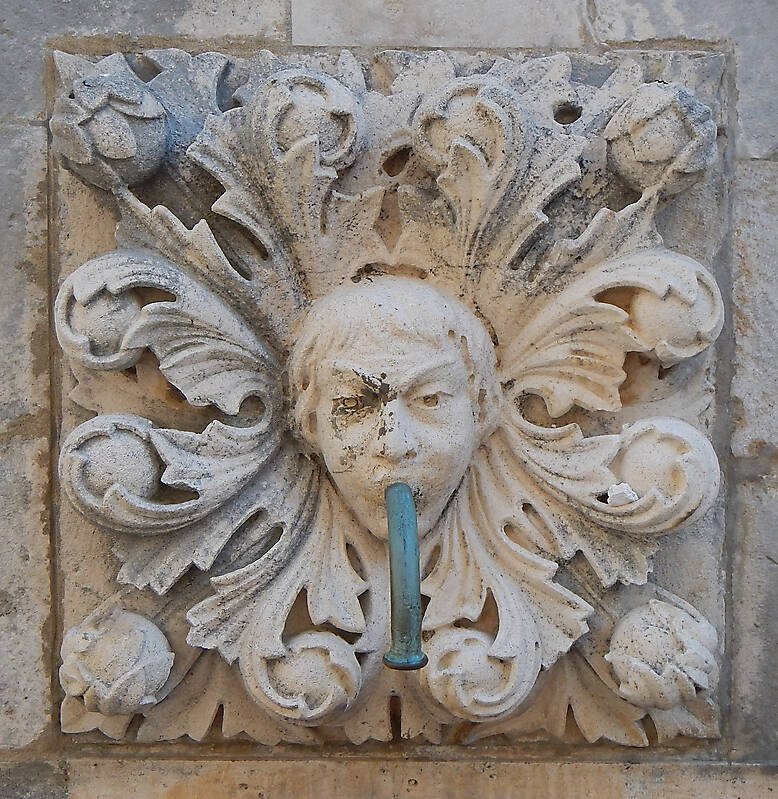 medieval fountain stone decoration 5