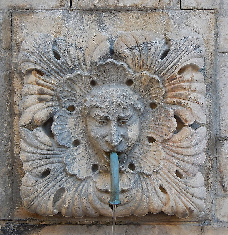 medieval fountain stone decoration 6