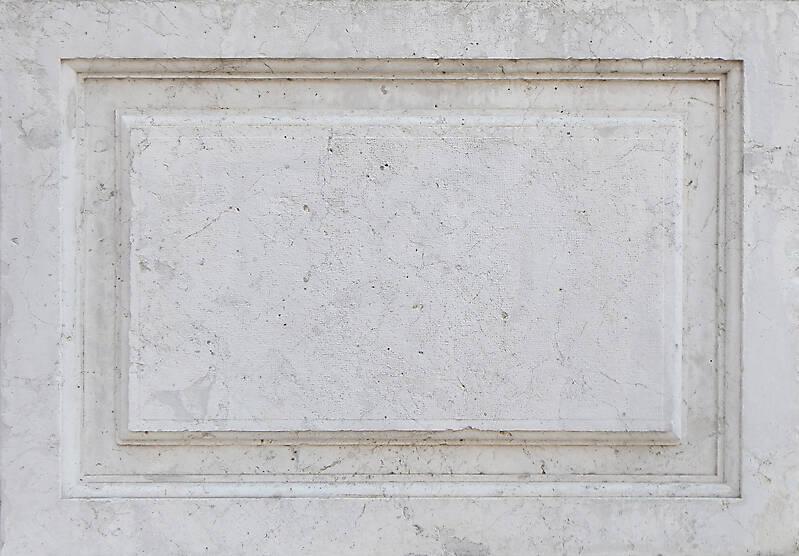 ornament white stone frame