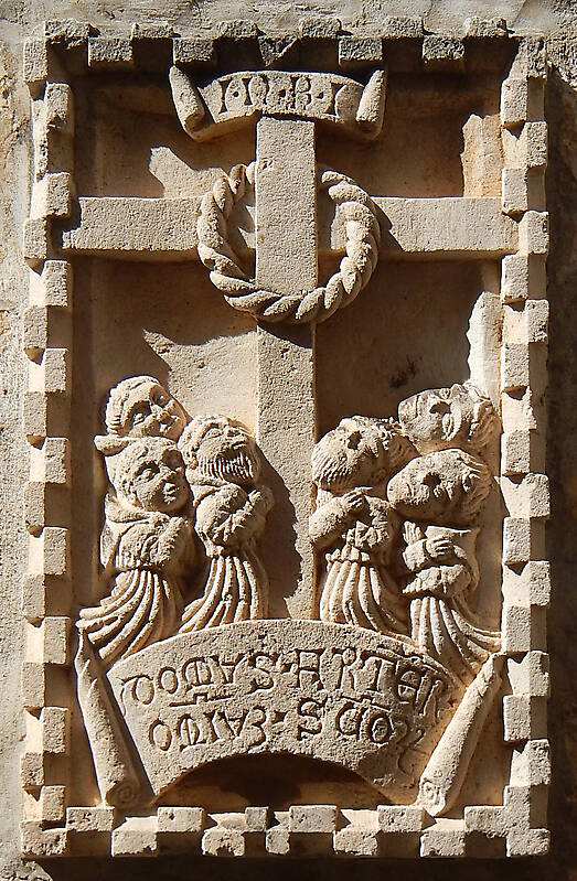 stone cross ornament 72