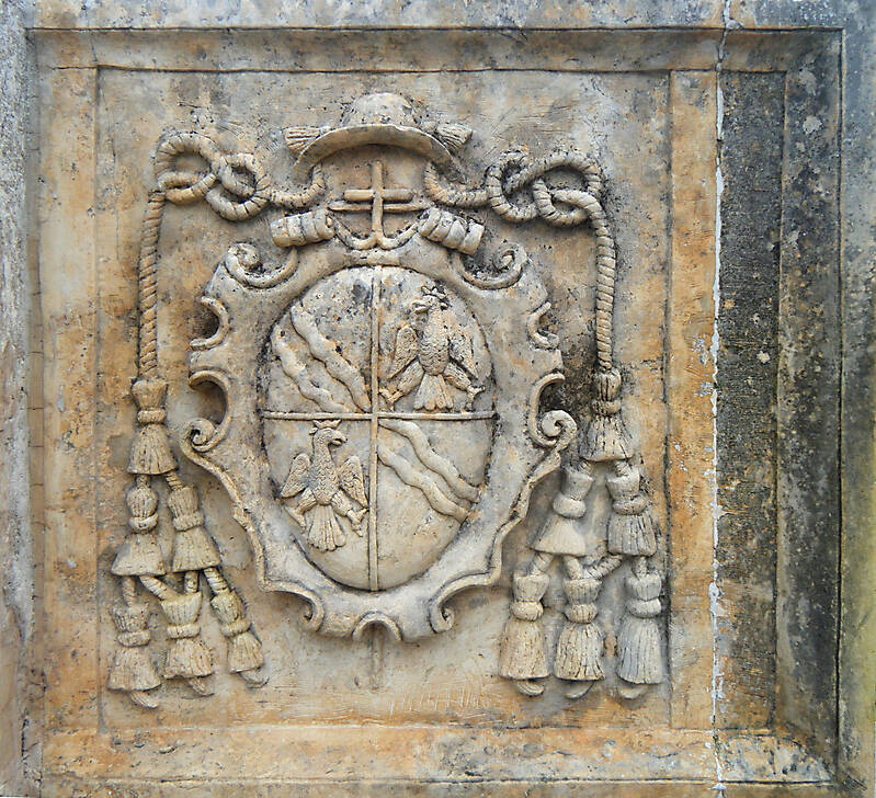 stone plate statue eagle emblem