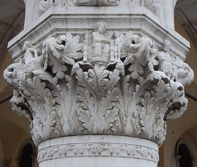 Textured Stone Pillar : Texture stone pillar capital venice pillars